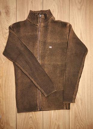 Чоловчий брендовий светр на замку.
