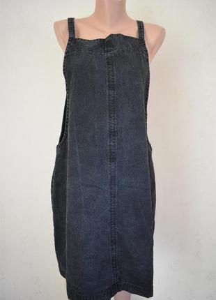Стильное джинсовое платье большого размера