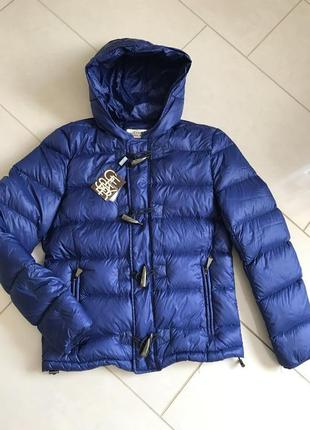 Пуховик куртка стильная модная дорогой бренд geyser размер m-l