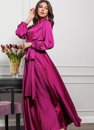 """Вечернее платье """"богиня весны"""" длинное смородинового цвета"""