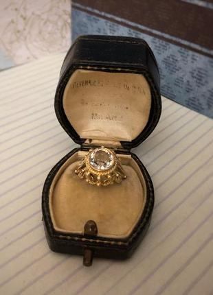 Винтажное кольцо серебро 875, звезда ссср, белый сапфир