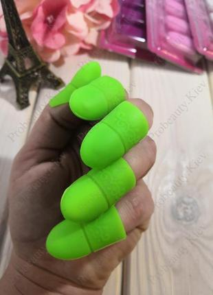 5 шт колпачки силиконовые для снятия гель лака с ногтей