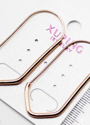 Серьги удлиненные, xuping, ювелирная бижутерия медицинское золото