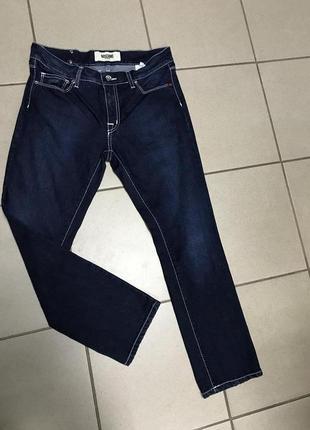 Джинсы стильные модные дорогой бренд moschino размер s
