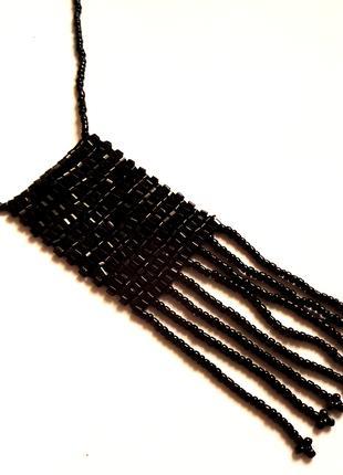 Украшение подвеска колье из бисера бусы ожерелье намисто