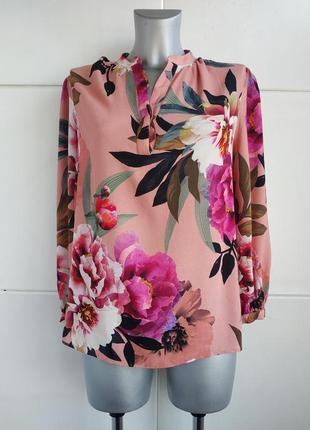 Красивая блуза  monsoon с принтом красивых цветов