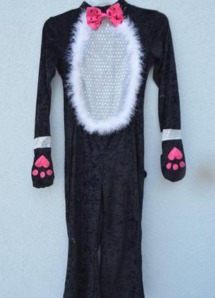 Качественный детский карнавальный костюм кошечки на 8-10 лет