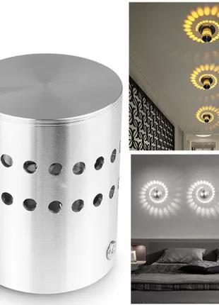LED светильник металлический для декора дополнительной подсветки