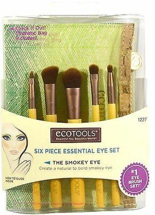 Набор кистей для глаз ecotools six piece essential eye set