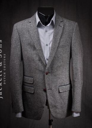 Блейзер jackett & sons, голландия пиджак мужской бу шерсть