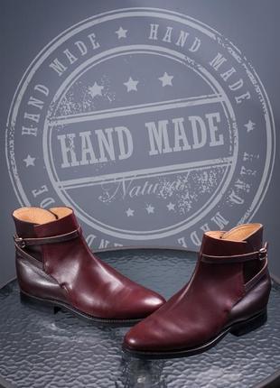 Сапоги ручной работы 40-40,5 кожаные ботинки мужские европа