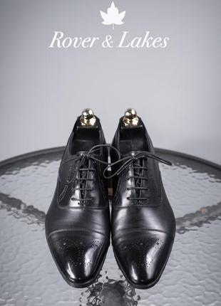 Оксфорды rover&lakes, португалия 42,5р мужские туфли кожаные б...