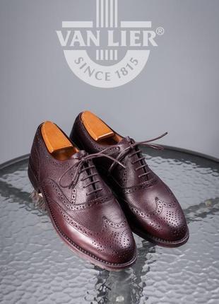 Оксфорды van lier, голландия 40р кожаные мужские туфли броги