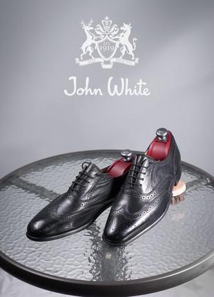 Оксфорды john white, англия 44р мужские туфли кожаные броги бу