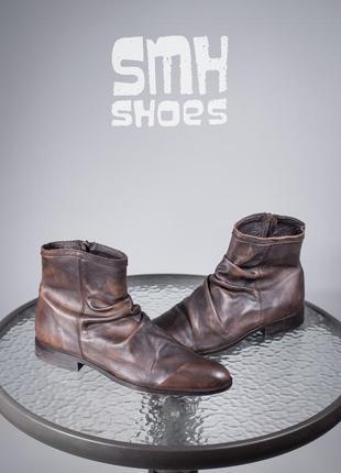Сапоги smh shoes unlimited 45р мужские ботинки кожаные челси д...