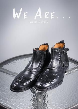 Челси we are..., италия 46р мужские сапоги кожаные ботинки