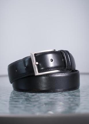 Кожаный ремень dressmann, италия мужской пояс под брюки