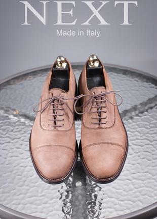 Оксфорды next, италия 42р мужские туфли кожаные