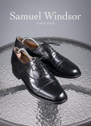 Оксфорды samuel windsor, англия 43р мужские туфли классические...