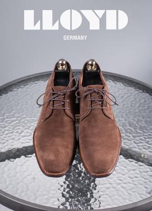 Ботинки чукка lloyd, германия 42,5-43 дезерты мужские замшевые...