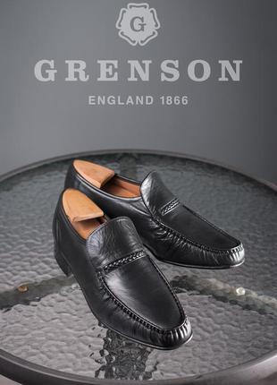 Мокасины ручной работы grenson, англия 42-42,5 мужские туфли л...
