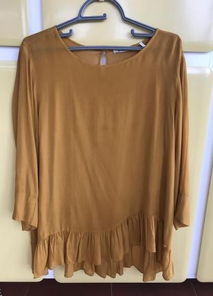 Блуза шелковая  стильная модная дорогой бренд rich and royal р...
