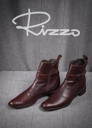 Сапоги rizzo, италия 40 кожаные ботинки туфли бу