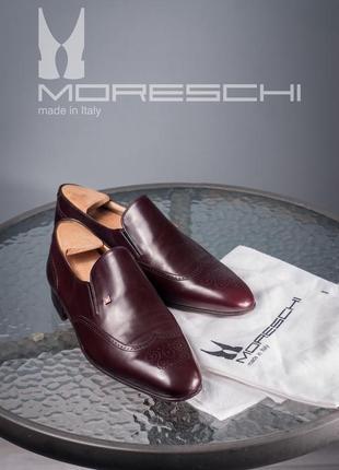 Лоферы люкс класса moreschi, италия 43,5 размер мужские мокаси...
