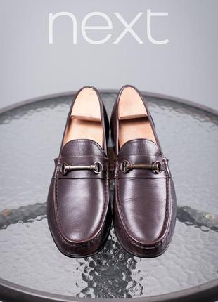 Лоферы с пряжкой next, индия 43 мужские мокасины туфли кожаные