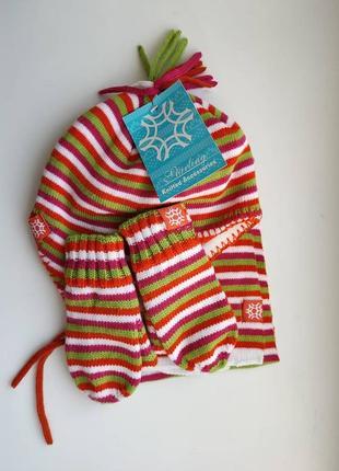 Зимний набор шапка шарф варежки