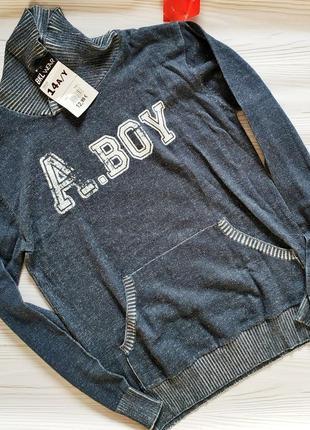 Молодежный тонкий коттоновый свитер