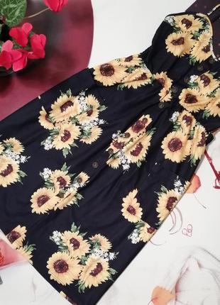Модный сарафан на пуговках, размер l/xl