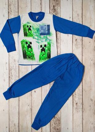Пижама с начесом для мальчика майнкрафт minecraft