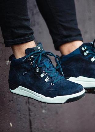 Ботинки: south fenix dark blue (зима)