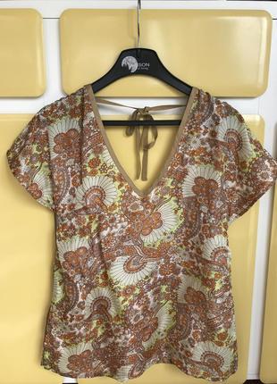 Блуза топ шелковый стильный модный replay размер м