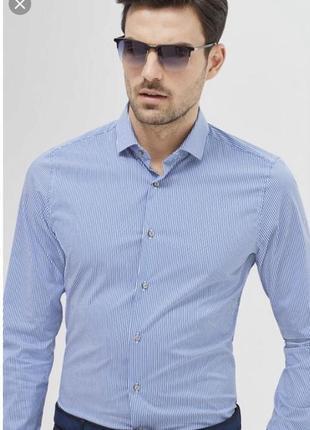 Рубашка мужская slim fit стильная модная дорогой бренд joop ра...