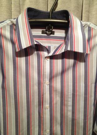 Коттоновая рубашка большого размера.425