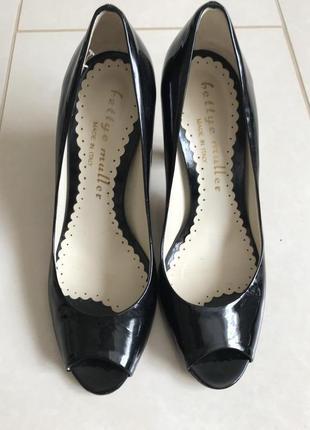 Туфли кожаные стильные модные дорогой бренд hettye muller разм...