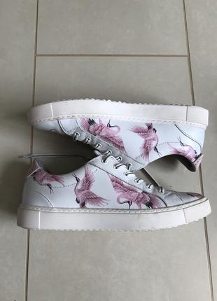 Туфли кожаные сникерсы стильные модные дорогой бренд maripe ра...