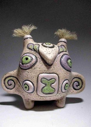 Статуэтка керамическая ручной работы. Сова.