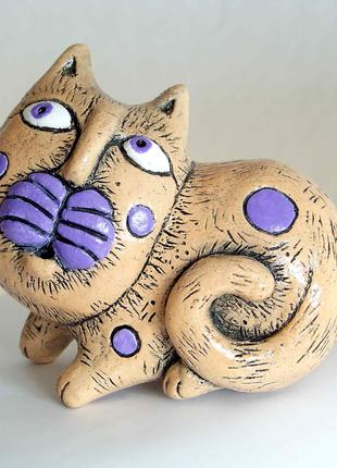 Статуэтка керамическая . Кот.