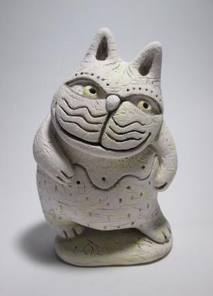 Статуэтка кота . Авторская керамика.