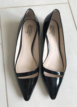 Туфли кожаные лодочки стильные модные дорогой бренд santoni ра...