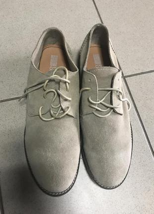 Туфли кожаные летние стильный модный дорогой бренд pier one ра...