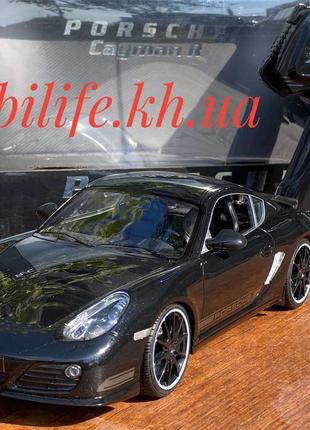 Машинка на пульте управления Porsche Cayman черный 1:16 27см/Г...