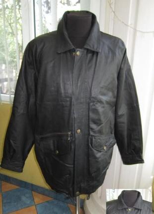 Большая классическая кожаная мужская куртка henry morell.  лот...