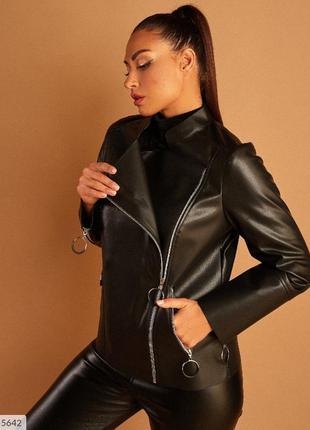 Женская  косуха большого размера. кожаная куртка. 50-56р
