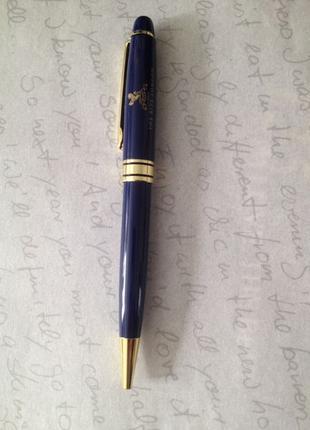 Шариковая металлическая ручка синего цвета из Лондона Англия