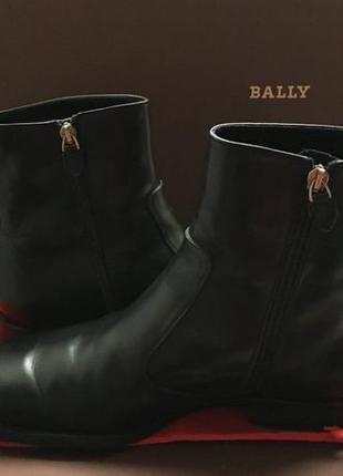 Мужские теплые ботинки Bally. На натуральном меху ! Оригинал!