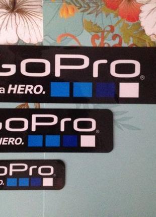 Наклейки для Камер GoPro. С надписью с логотипом GoPro Be a HERO.